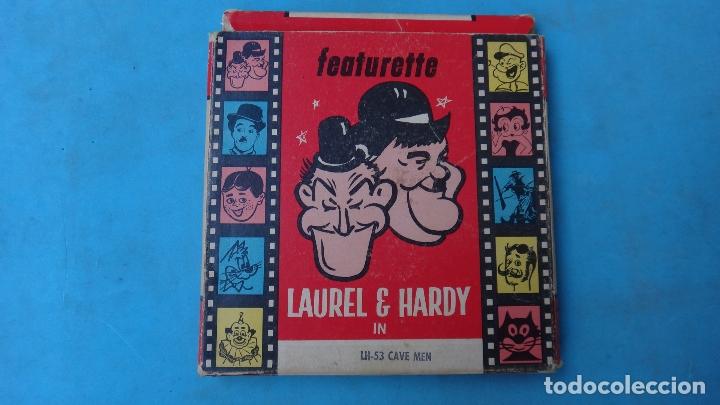 PELICULA LAUREL HARDY , ATLAS FILMS , 8 MM , ANTIGUA , ORIGINAL (Juguetes - Pre-cine y Cine)