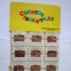 Juguetes Antiguos: ANTIGUAS DIAPOSITIVAS KODAK CUENTOS INFANTILES IRISCOLOR CUENTO PELICULA HANSEL Y GRETTEL 12 DIAPOSI. Lote 165097178