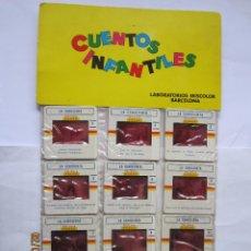 Juguetes Antiguos: ANTIGUAS DIAPOSITIVAS KODAK CUENTOS INFANTILES IRISCOLOR CUENTO PELICULA LA CENICIENTA 12 DIAPOSITIV. Lote 165098154