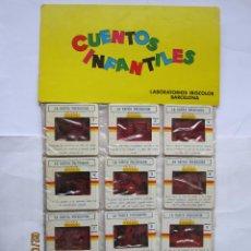 Brinquedos Antigos: ANTIGUAS DIAPOSITIVAS KODAK CUENTOS INFANTILES IRISCOLOR CUENTO PELICULA LA RATITA PRESUMIDA 12 DIAP. Lote 165098642