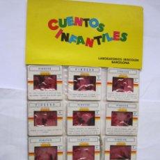 Juguetes Antiguos: ANTIGUAS DIAPOSITIVAS KODAK CUENTOS INFANTILES IRISCOLOR CUENTO PELICULA PINOCHO 12 DIAP. Lote 165099106