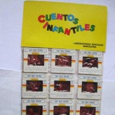 Juguetes Antiguos: ANTIGUAS DIAPOSITIVAS KODAK CUENTOS INFANTILES IRISCOLOR CUENTO PELICULA LOS TRES OSITOS 12 DIAPOSIT. Lote 165099678