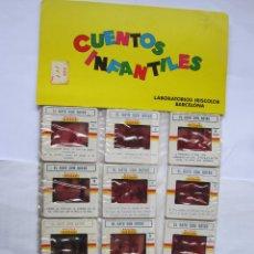 Juguetes Antiguos: ANTIGUAS DIAPOSITIVAS KODAK CUENTOS INFANTILES IRISCOLOR CUENTO PELICULA EL GATO CON BOTAS 12 DIAPO. Lote 165100026