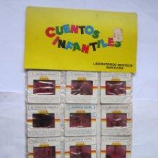Juguetes Antiguos: ANTIGUAS DIAPOSITIVAS KODAK CUENTOS INFANTILES IRISCOLOR CUENTO PELICULA EL SASTRECILLO VALIENTE 12. Lote 165100566