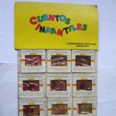Juguetes Antiguos: ANTIGUAS DIAPOSITIVAS KODAK CUENTOS INFANTILES IRISCOLOR CUENTO PELICULA ALADINO Y LA LAMPARA MARAV. Lote 165101182