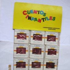Juguetes Antiguos: ANTIGUAS DIAPOSITIVAS KODAK CUENTOS INFANTILES IRISCOLOR CUENTO PELICULA LA CENICIENTA 12 DIAPOSITI. Lote 165101658