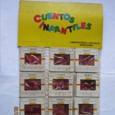 Juguetes Antiguos: ANTIGUAS DIAPOSITIVAS KODAK CUENTOS INFANTILES IRISCOLOR CUENTO PELICULA PULGARCITO 12 DIAPOSITIVA. Lote 165102258