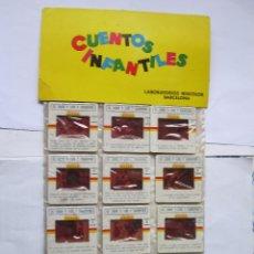 Juguetes Antiguos: ANTIGUAS DIAPOSITIVAS KODAK CUENTOS INFANTILES IRISCOLOR CUENTO PELICULA EL LOBO Y LOS 7 CABRITILLOS. Lote 165103810