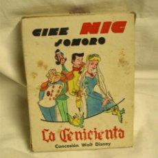 Juguetes Antiguos: LA CENICIENTA WALT DISNEY, CINE NIC SONORO CAJA CON 6 PELÍCULAS. Lote 165419974
