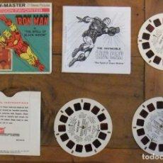 Giocattoli Antichi: VIEW MASTER IRON MAN: GAF VINTAGE PACK H44 -1977 - REDDISH TINT. Lote 173703564