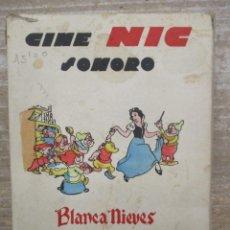 Juguetes Antiguos: CINE NIC BLANCA NIEVES Y LOS SIETE ENANITOS - WALT DINEY ESTUCHE / CAJA 6 PELÍCULAS - ORIGINAL. Lote 175218713