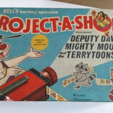 Juguetes Antiguos: PROJECT A SHOW. DEPUTY DAWG, MIGHTY MOUSE AND TERRYTONNS. BELL`S BATTERY OPERATED. 16 SLIDES.. Lote 176375729