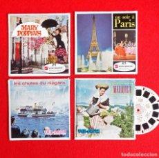 Juguetes Antiguos: LOTE 13 DISCOS VIEW MASTER FOTOS-3D. MARY POPPINS, PARÍS, MALLORCA, CATARATAS NIAGARA. AÑOS 60-70. Lote 177135842