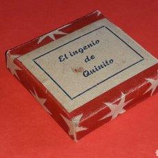 Juguetes Antiguos: CAJA *VACÍA* PARA PELÍCULA EL INGENIO DE QUINITO, CINE MONO-CINEMA PAYA, JEFE O SIMILAR, AÑOS 40-50.. Lote 177687940