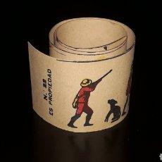 Juguetes Antiguos: CAZADOR CON PERRO. ANTIGUA TIRA PELÍCULA ZOOTROPO PRE-CINE, MIDE 54,5 X 5,5 CMS. ORIGINAL 1920.. Lote 177744627