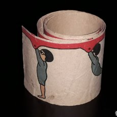 Juguetes Antiguos: GIMNASTA. ANTIGUA TIRA PELÍCULA ZOOTROPO PRE-CINE, MIDE 56,5 X 5,5 CMS. ORIGINAL 1920.. Lote 177752003