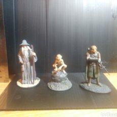 Juguetes Antiguos: ESDLA, EL SEÑOR DE LOS ANILLOS, MINIATURAS METAL PINTADAS,PÓSTER DE REGALO. Lote 179206583