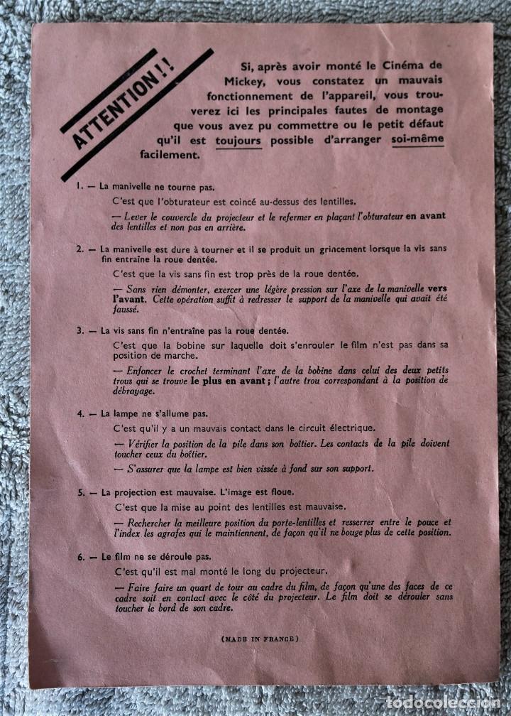 Juguetes Antiguos: CINE MICKEY - CINE NIC EN CARTÓN FRANCES - PROYECTOR PARA COLECCIÓN DE NIVEL. - Foto 22 - 180821408