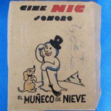 Juguetes Antiguos: CAJA VACIA CINE NIC SONORO. EL MUÑECO DE NIEVE. . Lote 183085582