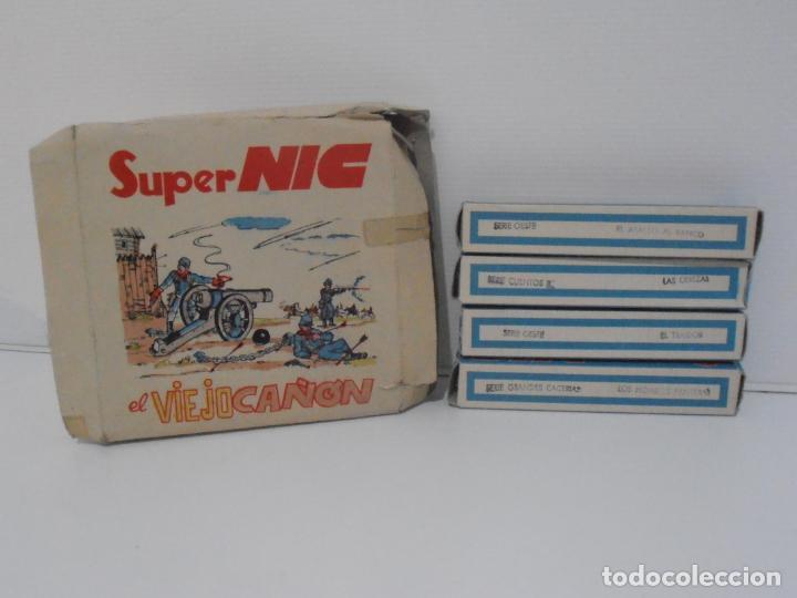 Juguetes Antiguos: PROYECTOR CINE SUPER NIC METALICO, CAJA, INSTRUCCIONES Y LOTE DE 9 PELICULAS - Foto 3 - 184880313