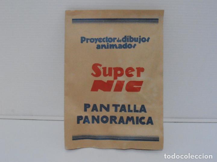 Juguetes Antiguos: PROYECTOR CINE SUPER NIC METALICO, CAJA, INSTRUCCIONES Y LOTE DE 9 PELICULAS - Foto 4 - 184880313