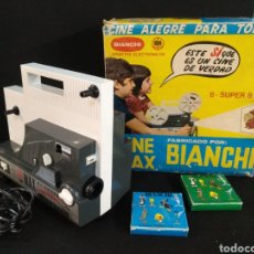 Juguetes Antiguos: PROYECTOR CINE MAX BIANCHI 8-SUPER 8 + 2 PELÍCULAS. FUNCIONA. Lote 190515640