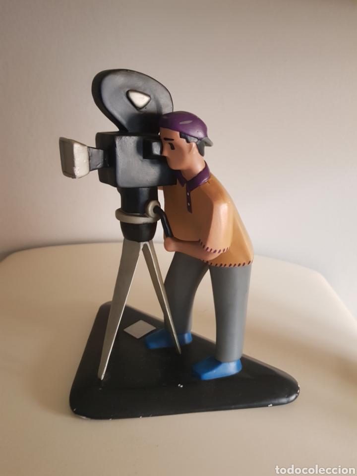 FIGURA DE COLECCION EN ESCAYOLA YESO CAMARA MAN CINEASTA VINTAGE LINIA EXPRES UNIVERSAL FILM (Juguetes - Pre-cine y Cine)