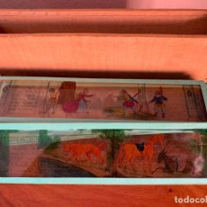 Juguetes Antiguos: FABULAS DE LA FONTAINE 12 CRISTALES LINTERNA MAGINA FABLES JEAN LA FONTAINE. Lote 192734881