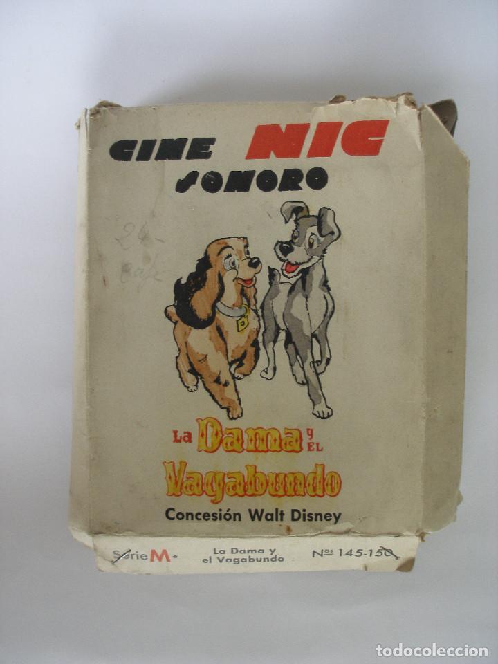 CINE NIC SONORO LA DAMA Y EL VAGABUNDO CAJA CON TRES PELÍCULAS SIN USO (Juguetes - Pre-cine y Cine)