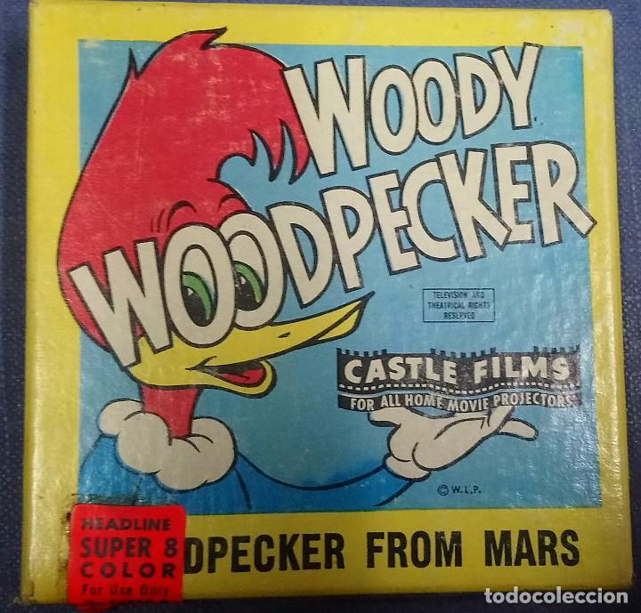 Juguetes Antiguos: Pelicula Super 8 Headline. Castle Films Woody Woodpecker, Woodpecker from Mars. Color - Foto 2 - 194150362