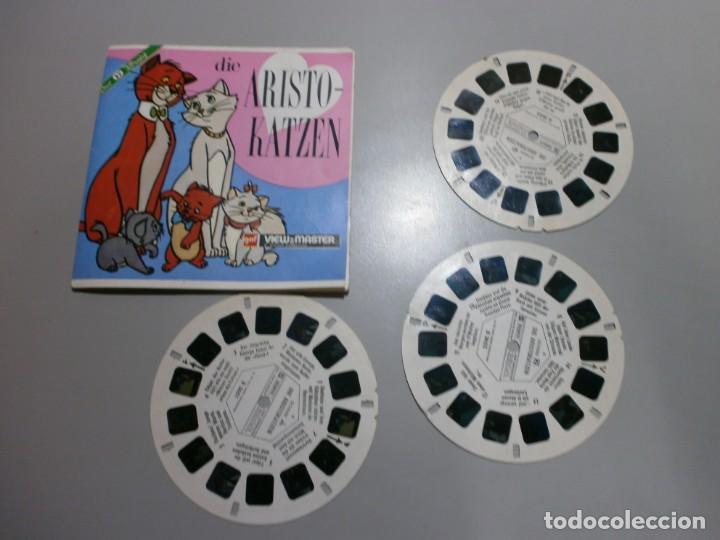 VIEW MASTER PELICULA ARISTO GATOS AÑOS 50 60 (Juguetes - Pre-cine y Cine)