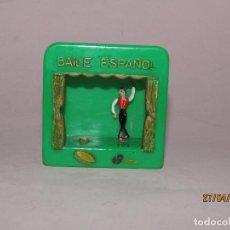 Juguetes Antiguos: TEATRILLO DE BAILADORES *BAILE ESPAÑOL* CON MOVIMIENTO MEDIANTE RUEDECILLA CON SACAPUNTAS AÑO 1970S.. Lote 202760413