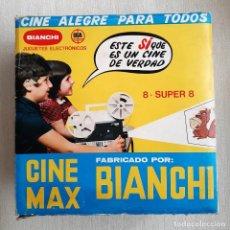 Giocattoli Antichi: ANTIGUO PROYECTOR DE SUPER 8 CINE MAX MARCA BIANCHI EN CAJA. Lote 205685991