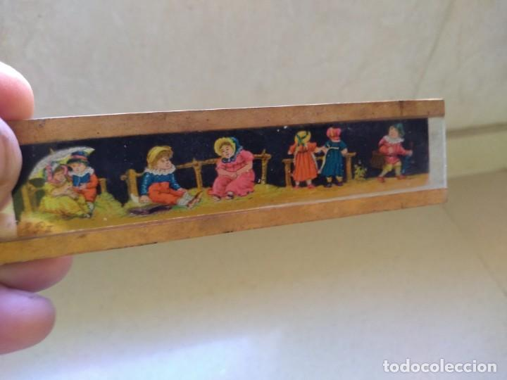 Juguetes Antiguos: Antiguos dibujos diapositivas muy antiguas cine linterna magica - Foto 5 - 208912600