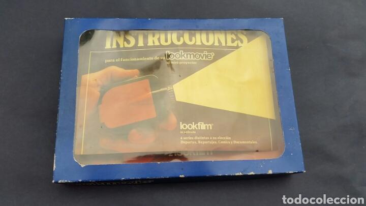 Juguetes Antiguos: PROYECTOR LOOKMOVIE. LOOKFILM Y 3 CAJITA microfilm - Foto 2 - 210317673