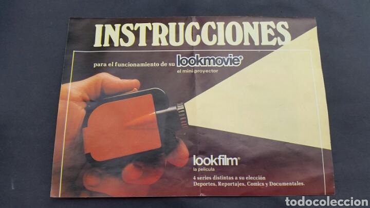 Juguetes Antiguos: PROYECTOR LOOKMOVIE. LOOKFILM Y 3 CAJITA microfilm - Foto 3 - 210317673