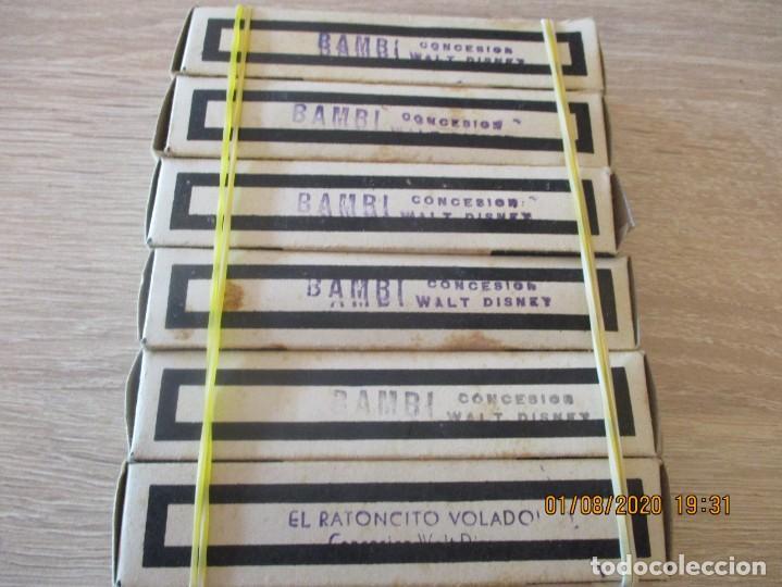 6 CINE NIC, BAMBI SERIE J. 1ª,2ª,3ª,4ª,5ª PARTE Y RATONCITO VOLADOR 1 PARTE. PELICULAS WALT DISNEY (Juguetes - Pre-cine y Cine)
