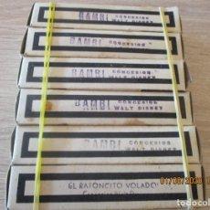 Juguetes Antiguos: CINE NIC, BAMBI SERIE J. 1ª,2ª,3ª,4ª,5ª PARTE Y EL RATONCITO VOLADOR 1 PARTE. PELICULAS WALT DISNEY. Lote 213556112