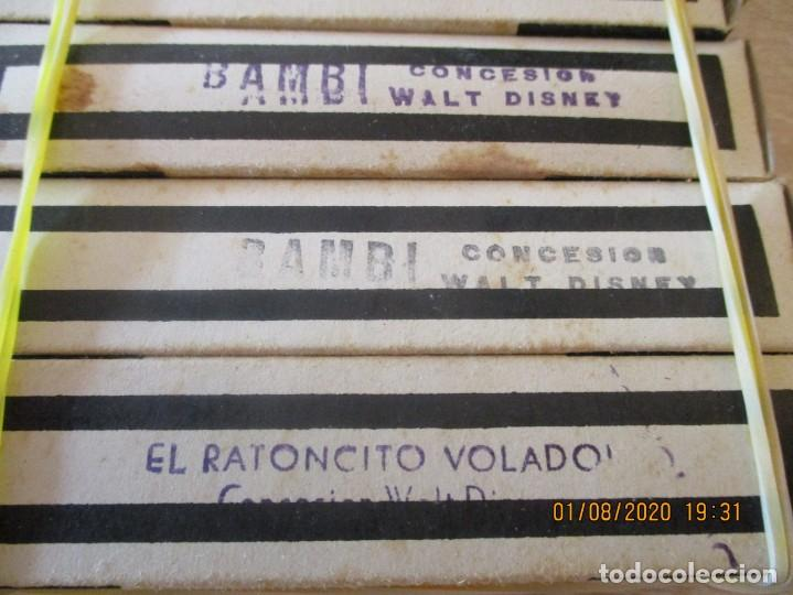 Juguetes Antiguos: 6 CINE NIC, BAMBI SERIE J. 1ª,2ª,3ª,4ª,5ª PARTE Y RATONCITO VOLADOR 1 PARTE. PELICULAS WALT DISNEY - Foto 3 - 213556112