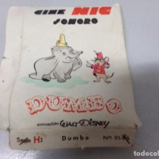Juguetes Antiguos: CINE NIC. DUMBO.WALT DISNEY. CAJA ORIGINAL. CONJUNTO DE 5 PELICULAS.. Lote 214920085