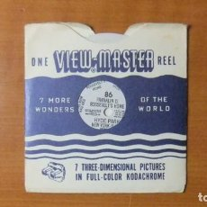 Giocattoli Antichi: VIEW MASTER - ROOSVELT'S HOME- VIEWMASTER VINTAGE - SINGLE REEL Nº: 86 - SAWYER'S -. Lote 220536892