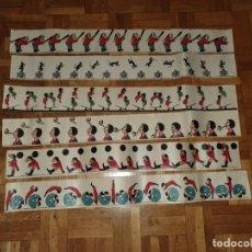 Juguetes Antiguos: 18 TIRAS DE ZOOTROPO MUY ANTIGUAS. Lote 223135757