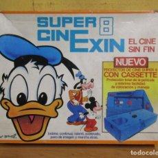 Juguetes Antiguos: SUPER CINEXIN SUPER 8 CON CARTUCHO FABRICADO EN ESPAÑA + 3 PELICULAS + INSTRUCCIONES VER IMAGENES. Lote 229166190