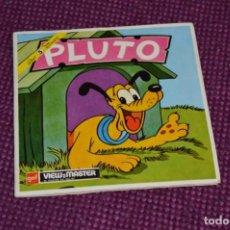 Juguetes Antiguos: PLUTO - B 529 / SET 3 DISCOS VIEW MASTER - VINTAGE AÑOS 50/60 - BUEN ESTADO ¡MIRA!. Lote 234561515