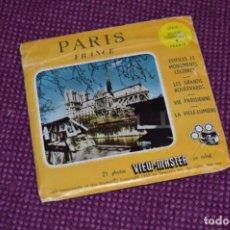 Juguetes Antiguos: PARIS - FRAMCE - 1403 A B C / SET 3 DISCOS VIEW MASTER - VINTAGE AÑOS 50/60 - BUEN ESTADO ¡MIRA!. Lote 234562500