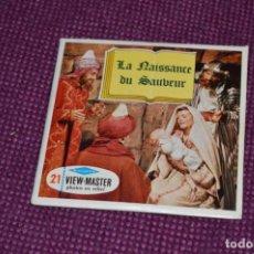 Juguetes Antiguos: LA NAISSANCE DU SAUBEUR - B 875 / SET 3 DISCOS VIEW MASTER - VINTAGE AÑOS 50/60 - BUEN ESTADO ¡MIRA!. Lote 234562910