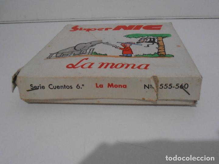 Juguetes Antiguos: MAQUINA CINE SUPER NIC, PANTALLA PANORAMICA, CAJA ORIGINAL CON PELICULAS, AÑOS 60 - Foto 9 - 235800385