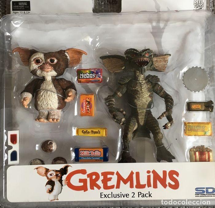 GREMLINS NECA EXCLUSIVE 2 PACK GIZMO Y STRIPE (Juguetes - Pre-cine y Cine)