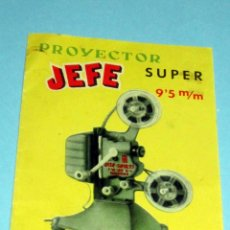 Giocattoli Antichi: PROYECTOR JEFE SUPER 9,5 M/M INSTRUCCIONES DE FUNCIONAMIENTO POR 1 SUBASTA. Lote 241404370