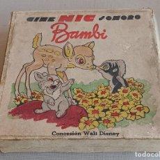 Juguetes Antiguos: BAMBI CINE NIC SONORO. Lote 242122345